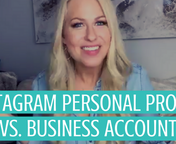 Instagram business versus personal channel