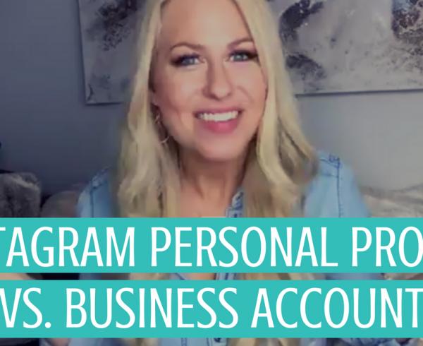 Instagram business versus personal channel